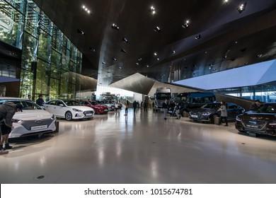 6 January 2018:inside The Hyundai Motorstudio Goyang, this zone show about various Hyundai car models.