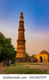 6 May 2019; The Qutub Minar -  73-metre tall tapering tower of five storeys, also spelled as Qutab Minar, is a minaret that forms part of the Qutb complex, a UNESCO World Heritage Site in Delhi, India
