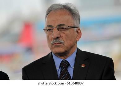6 November 2015. Istanbul, Turkey. Murat Karayalcin is a prominent Turkish politician.