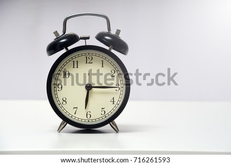 6 oclock 15 minute over white stock photo edit now 716261593