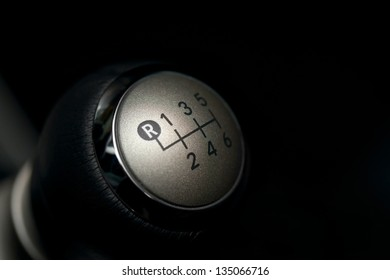 6 speed gear stick closeup