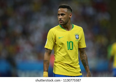 6.07.2018. KAZAN, Russia: NEYMAR in action during the Round-8 Fifa World Cup Russia 2018 football match between BRAZIL V BELGIUM in ARENA KAZAN.