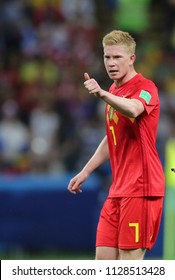 6.07.2018. KAZAN, Russia:Kevin De Bruyne SCORE THE GOL  during the Round-8 Fifa World Cup Russia 2018 football match between BRAZIL V BELGIUM in Spartak Stadium.