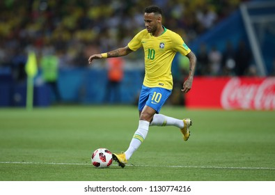 6.07.2018. KAZAN, Russia:NEYMAR  in action during the Round-8 Fifa World Cup Russia 2018 football match between BRAZIL V BELGIUM in ARENA KAZAN.