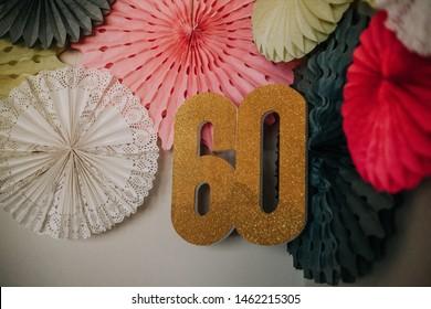 60th wedding anniversary decor celebrating diamond anniversary cake and decorations