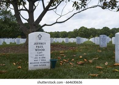 6-17-17 Arlington Va: Headstones at  the arlington national cemetery.