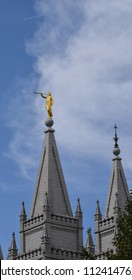 6/29/18 Salt Lake City Utah The angel Moroni on top of the Mormon Temple