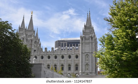 6/29/18 Salt Lake City Utah The Mormon Temple at Temple Square