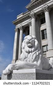 6/29/2018 Salt Lake City Utah Lion sculpture at the state capitol