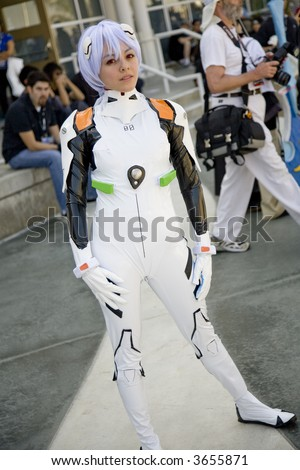 6 30 07 Long Beach Anime Expo 2007 Cosplayer Portraying Rei Ayanami From