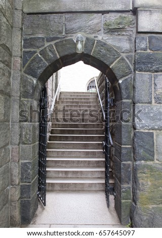 6/4/17 Arched Doorway With Stairs At The Cloisters In NYC, NY