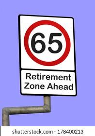 65 road sign retirement zone ahead