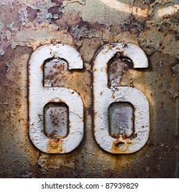 66 route americana sign texture units and the number of iron rust