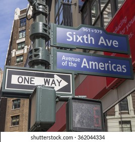 6th Ave, Avenue of the Americas, NYC
