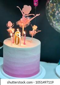 6th Birthday Cake For Ballerina Pink