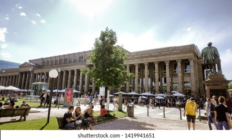 6th June, 2019, Stuttgart Scholasplatz. One of the tourist attractive place in Stuttgart, Germany