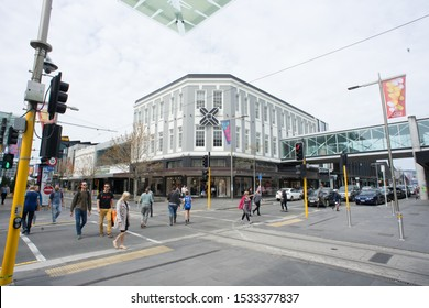6th October 2019,Christchurch,New Zealand.View of the Christchurch city street during day light.