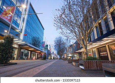 6th October 2019,Christchurch,New Zealand.View of the Christchurch city street at night.