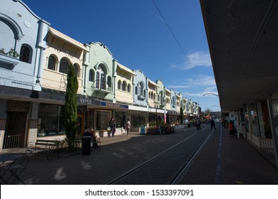 6th October 2019,Christchurch,New Zealand.View of the Regent Street in Christchurch city during day light.