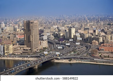 6th October bridge aerial view in Cairo Egypt
