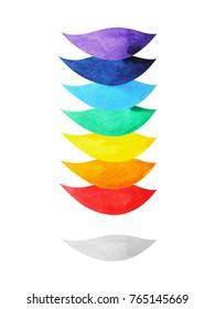 7 color of chakra symbol concept e75aee2869a78