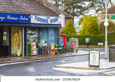 7 February 2018 A typical corner shop and a local beauticians open for business on a bleak winter morning on the Ballymaconnell Road Bangor County Down