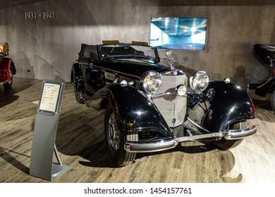 7 July 2019 - Museum EFA Mobile Zeiten in Amerang, Germany: Mercedes Benz 540 Cabrio  K 1936 - 1939. Retro car, oldtimer