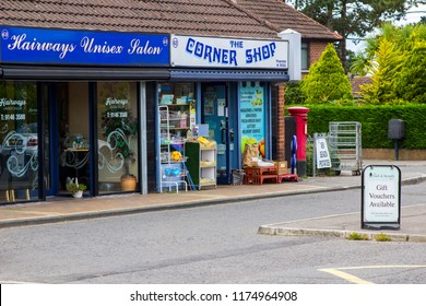 7 September 2018 Small shop units on the Ballymaconnell Road South in Bangor County Down Northen Ireland. These small business orovide a valuable service for local residents.