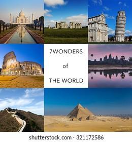 7 wonders of the world in hindi language