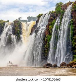 70 metre high waterfall at Iguazu