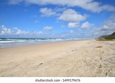 70 Mile beach on Fraser Island Australia