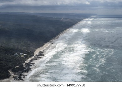 70 Mile beach on Fraser Island Aerial View