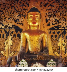 700 Years old BUDDHA image , at KORNSARN  ,CHAIYAPHUM, Thailand.