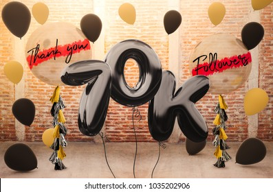 70k or 70,000 followers thank you with brilliant Balloons background. For your Celebration and Appreciation for social Network friends, Web user Thank you or celebrate of subscriber, follower,a