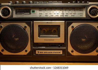 In the 70s and 80s the music was listened to through the cassettes, a magnetic storage device. The radios were very large, containing two speakers and a cassette player.