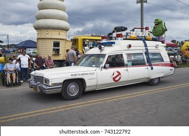 7-15-17 Syracuse, NY: Ghost buster car at the Syracuse Nationals. The Syracuse nationals is the largest car show on the east coast.