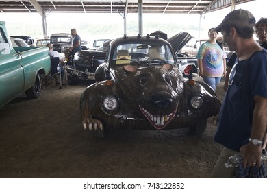 7-15-17 Syracuse, NY: A Ratrod bug and other Cars at the Syracuse Nationals. The Syracuse nationals is the largest car show on the east coast.
