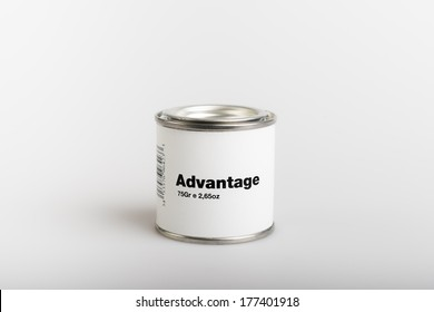 75gr of canned advantage with white background