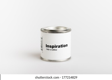 75gr of canned inspiration with white background