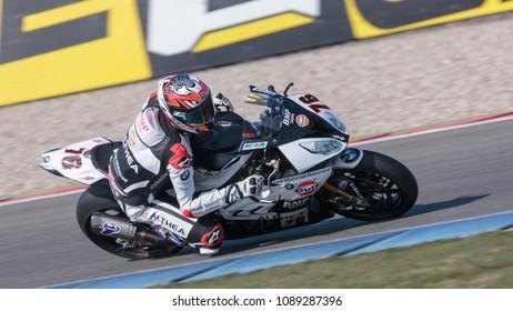 76, Loris Baz, FRA, BMW S 1000 RR, GULF ALTHEA BMW Racing Team, WorldSBK 2018, Motul Dutch Round, Free Practice 1, 2018, TT Assen Circuit, Assen, Netherlands