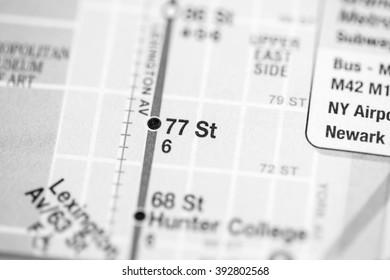 77 St. Lexington Av/Pelham Express Line. NYC. USA