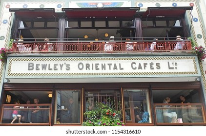 7th August 2018 Dublin. Dublin is becoming more and more popular as a tourist destination. The image is of one of Dublin's most popular cafes. Bewley's on Grafton Street.
