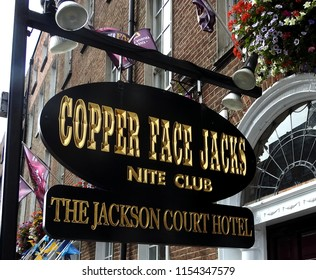 7th August 2018, Dublin. Tourism. Dublin's legendary nightclub, Copper Face Jacks on Harcourt Street, Dublin City Centre. Popular with locals and tourists and now also the theme of a musical show.