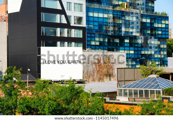 7th July 2018 Billboard Reads Love Stock Photo Edit Now 1145017496