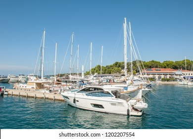 8. 28. 2012. Vrsar. Croatia. Berth for ships. Fishing in the Adriatic sea