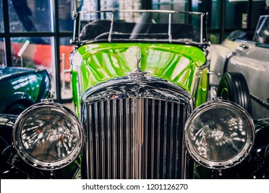 8 April 2018, Istanbul-Turkey: 1935 Bentley classic car in Rahmi Koc  Museum. Koc museum has one of the biggest classic car collection in Turkey.