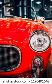 8 April 2018, Istanbul-Turkey: 1959 Fiat 1100 Turismo Veloce classic car in Rahmi Koc Museum. Koc museum has one of the biggest classic car collection in Turkey.