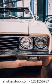 8 April 2018, Istanbul-Turkey: 1967 Buick Skylark classic car in Rahmi Koc  Museum. Koc museum has one of the biggest classic car collection in Turkey.