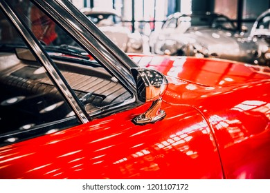 8 April 2018, Istanbul-Turkey: 1976 Studebaker Avanti II classic car in Rahmi Koc Museum. Koc museum has one of the biggest classic car collection in Turkey.