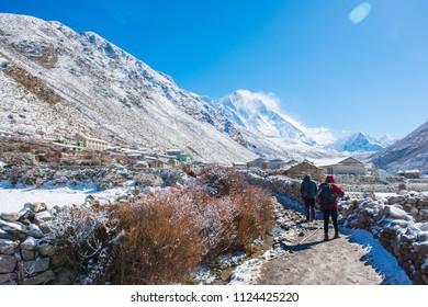 8 April 2018 - Nepal ::trekker are trekking to Everest base camp , Nepal